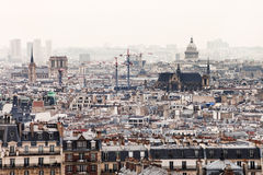 Beskåda av Paris med Pantheon Royaltyfri Foto
