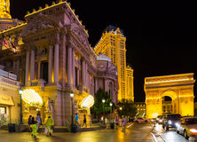 Paris Hotel and Arch in Las Vegas Stock Photography