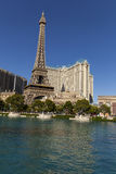 The Paris Hotel as seen from the Bellagio in Las Vegas, NV on Ma Stock Images