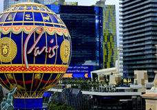 Paris Hotel Balloon on the Las Vegas Strip Stock Photos