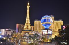 Paris Hotel and Casino, Bellagio Hotel and Casino, metropolitan area, landmark, city, metropolis. Paris Hotel and Casino, Bellagio Hotel and Casino is stock photography