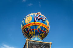 Paris Hotel and Casino Hot Air Balloon sign - Las Vegas, Nevada, USA. LAS VEGAS, USA - December 22, 2016: Paris Hotel and Casino Hot Air Balloon sign Stock Images