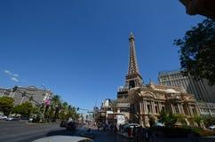 Paris Hotel and Casino, landmark, town, city, human settlement. Paris Hotel and Casino is landmark, human settlement and downtown. That marvel has town Stock Photos
