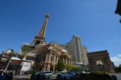 Paris Hotel and Casino, landmark, town, city, urban area. Paris Hotel and Casino is landmark, urban area and tourism. That marvel has town, human settlement and Stock Images