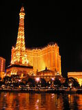 Paris Hotel and Casino on the Las Vegas Strip. Paris Las Vegas is a hotel and casino located on the Las Vegas Strip. As its name suggests, its theme is the city Stock Photo