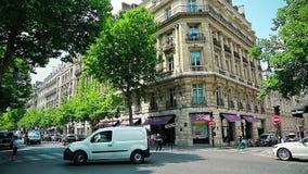 Paris Hotel at the corner stock footage