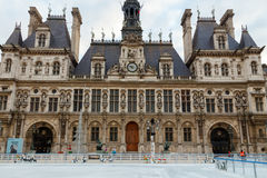 Paris. Hotel-de-Ville (City Hall). Royalty Free Stock Photography