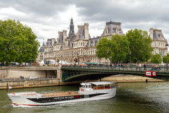 Paris. Hotel-de-Ville (City Hall). Stock Photo