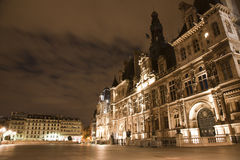 Paris - Hotel de Ville in the night Royalty Free Stock Image