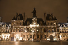 Paris - Hotel de Ville in the night Royalty Free Stock Photography