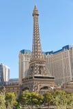 Paris-Hotel in Las Vegas mit einer Replik des Eiffelturms. stockfotografie