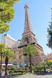Paris Hotel in Las Vegas with a replica of the Eiffel Tower. Royalty Free Stock Images