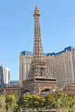 Paris Hotel in Las Vegas with a replica of the Eiffel Tower. Stock Photography
