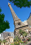 Paris Hotel in Las Vegas with a replica of the Eiffel Tower. Royalty Free Stock Photos