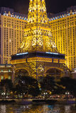 Paris Hotel in Las Vegas with a replica of the Eiffel Tower. Stock Photo
