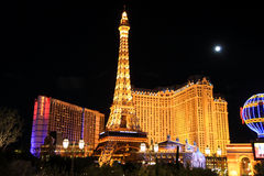 Paris hotel in LasVegas. LAS VEGAS - DECEMBER 27: The Paris Hotel & Casino on December 27, 2012 in Las Vegas, Nevada. it includes a half scale, 541-foot tall Stock Images