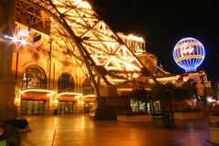 Paris Hotel by night Royalty Free Stock Photography