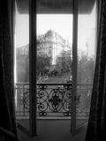 Paris Hotel Room With a View Stock Photography