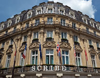 Paris - Hotel Scribe Royalty Free Stock Images