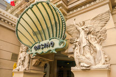 Paris-Hotel-und -kasino-Eingang Stockbild