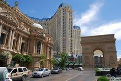 Paris hotell och kasino, gränsmärke, storstadsområde, stad som bygger Arkivbild