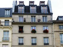 Paris. House in paris royalty free stock photo