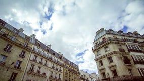 Paris houses timelapse stock footage