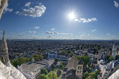 Paris huge aerial view from montmatre Stock Photos
