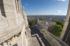 Paris huge aerial view from montmatre Stock Photography