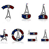 Paris icons Royalty Free Stock Image