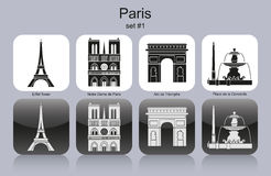 Paris icons Stock Photos