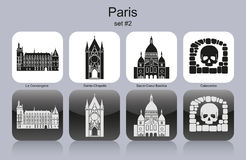Paris icons Royalty Free Stock Photo