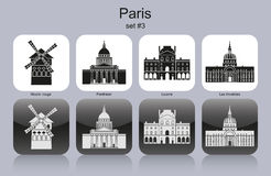 Paris icons Royalty Free Stock Photos