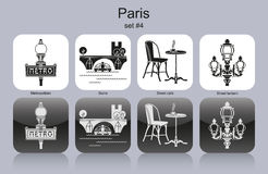 Paris icons Stock Photo