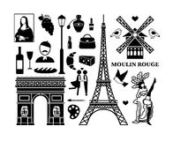 Paris icons Royalty Free Stock Images