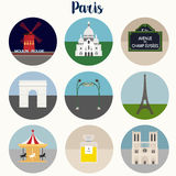 Paris Icons Set - Vector EPS10 Stock Photo