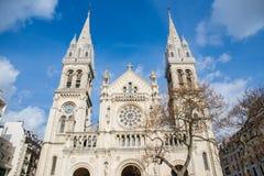 Paris, igreja de Saint-Ambroise fotos de stock