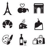 Paris-Ikonen Stockfotos