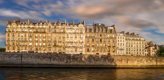 Paris Ile de la Cite and Haussmannian architecture Stock Image