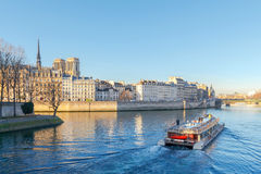 Paris. Ile de la Cite in a sunny winter morning. Royalty Free Stock Photos