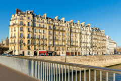 Paris. Ile de la Cite in a sunny winter morning. Royalty Free Stock Photo