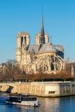 Paris. Ile de la Cite in a sunny winter morning. Royalty Free Stock Photos