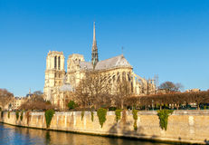 Paris. Ile de la Cite in a sunny winter morning. Stock Images