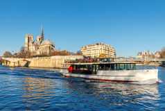 Paris. Ile de la Cite in a sunny winter morning. Stock Photos