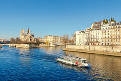 Paris. Ile de la Cite in a sunny winter morning. Stock Image