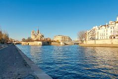 Paris. Ile de la Cite in a sunny winter morning. Royalty Free Stock Images