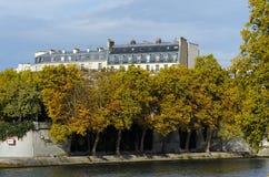 Paris, ile st Louis in autumn seasun Stock Image