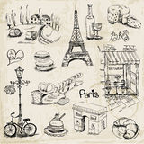 Paris Illustration Set. For design and scrapbook - in Royalty Free Stock Photo