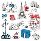 Paris-Illustrations-Satz Stockbild