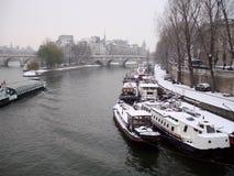 Paris im Winter stockfoto